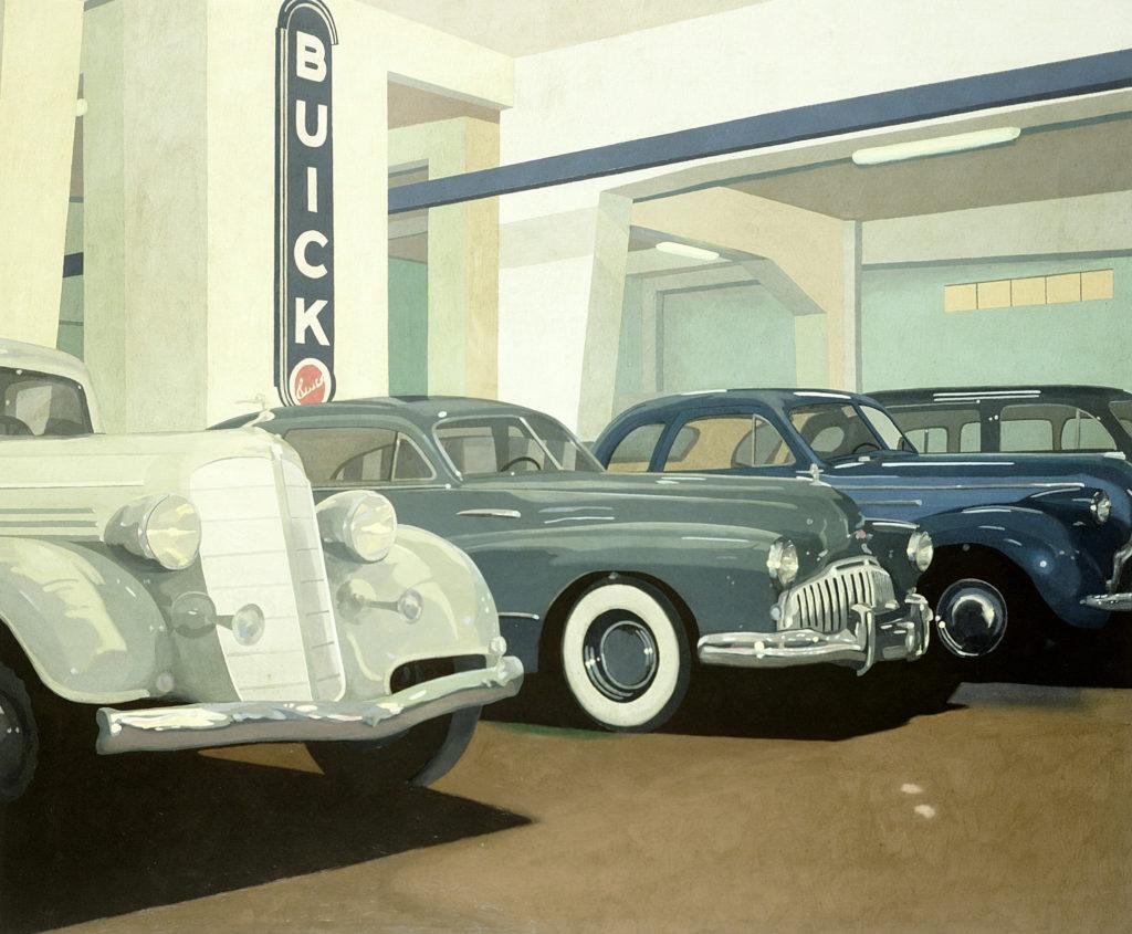 Buick 2001 olio su tela cm  100x120