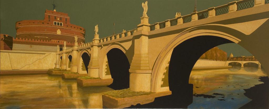Castel Sant'Angelo 2007 olio su tela cm. 80x200