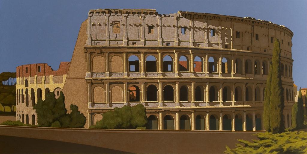 Colosseo 2009 olio su tela cm. 100x200