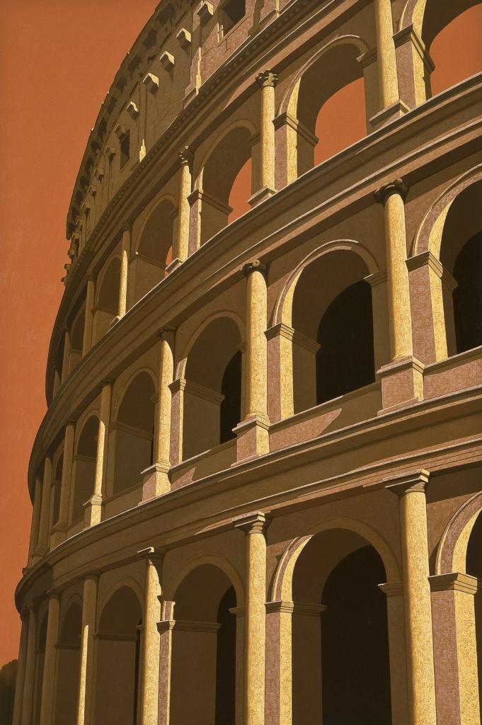 Colosseo 2010 olio su tela cm 150x100