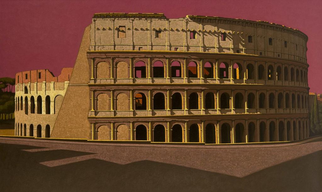 Colosseo 2012 olio su tela cm 120x200