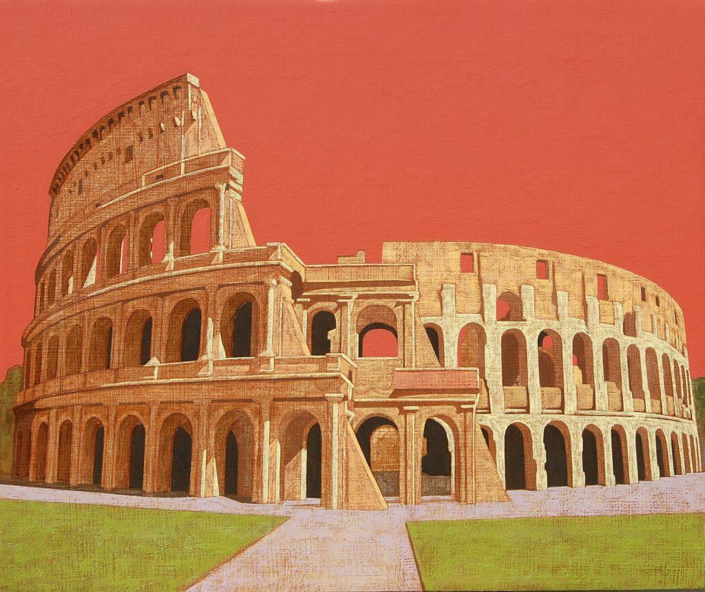 Colosseo 2017 olio su tela cm 50x60