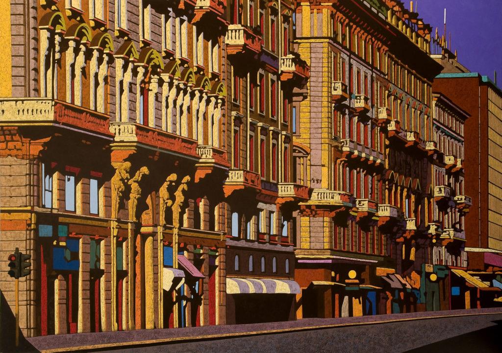 Corso Buenos Aires 2009 olio su tela cm. 140x200