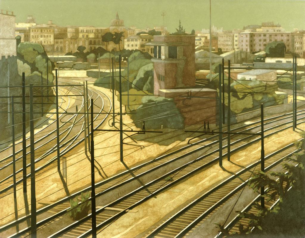 Dalla Casilina Vecchia 2001 olio su tela cm 140x180
