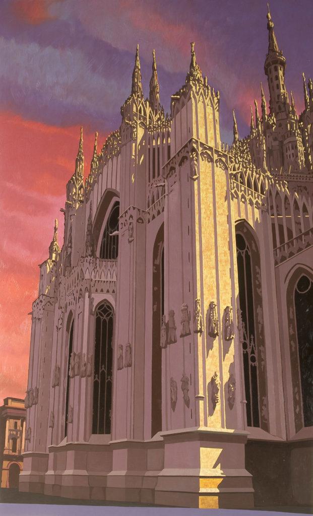 Duomo 2008 olio su tela cm 200x120