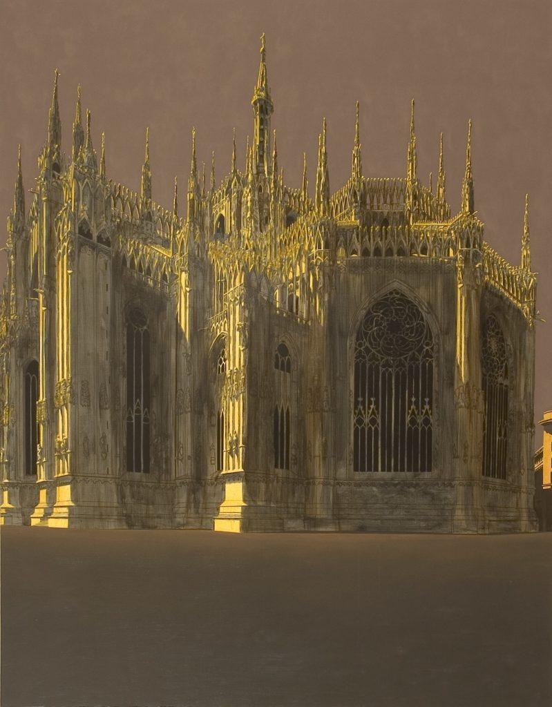 Duomo di Milano 2005 olio su tela cm 180x140