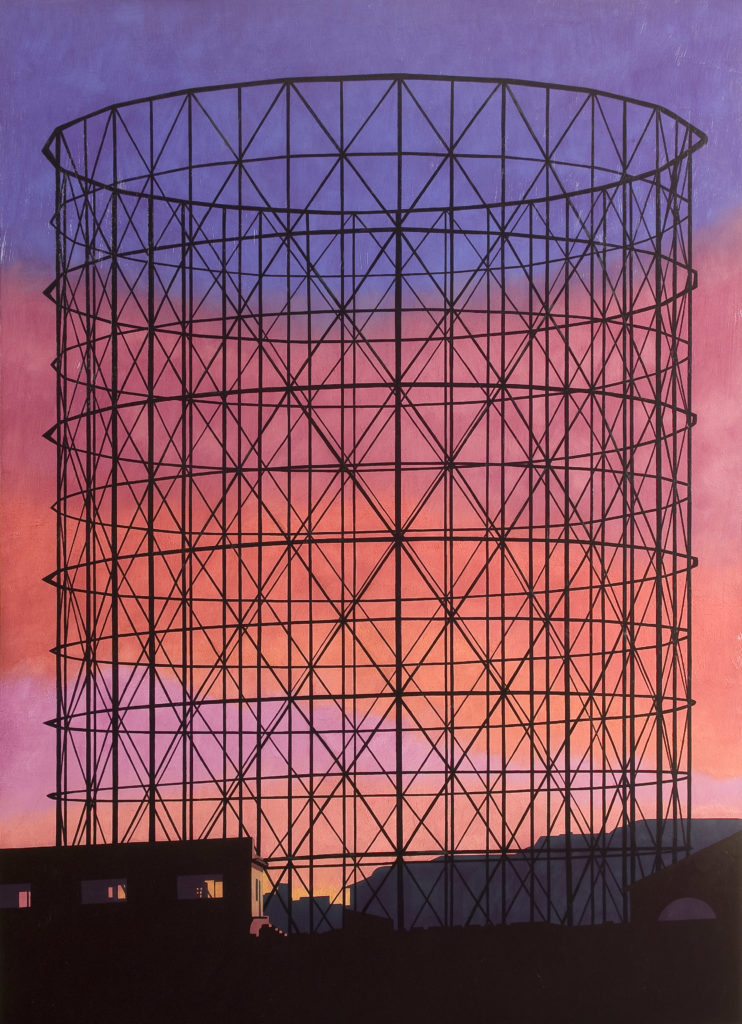 Gazometro 2008 olio su tela cm 200x140