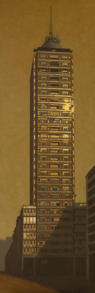 Grattacielo 2005 olio su tela cm 240x80