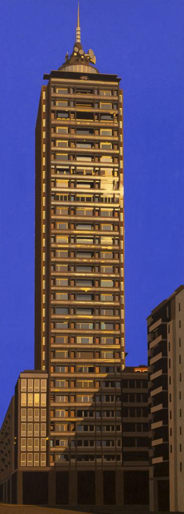 Grattacielo 2013 olio su tela cm 120x40