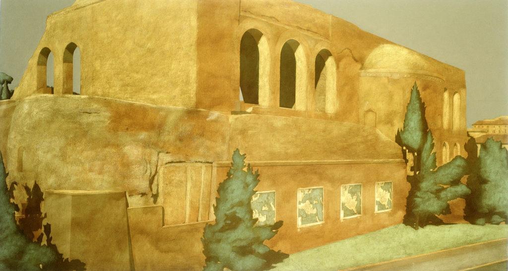 I confini dell'Impero 2000 olio su tela cm 70x130