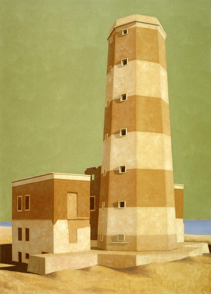 Il faro di Fiumicino 2002 olio su tela cm 70x50