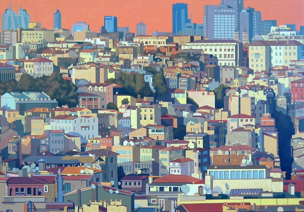 Istanbul 2013 olio su tela cm 70x100