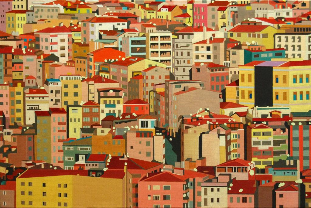 Istanbul 2015  olio su tela cm 40x60
