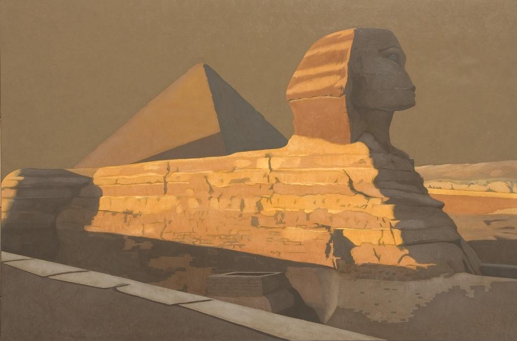La Sfinge 2006 olio su tela cm 130x200