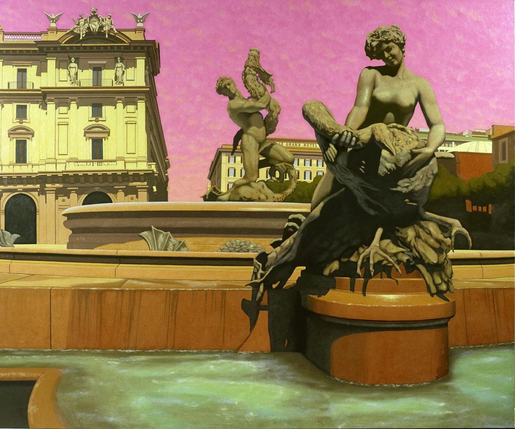 Le Naiadi 2002 olio su tela cm 180x216