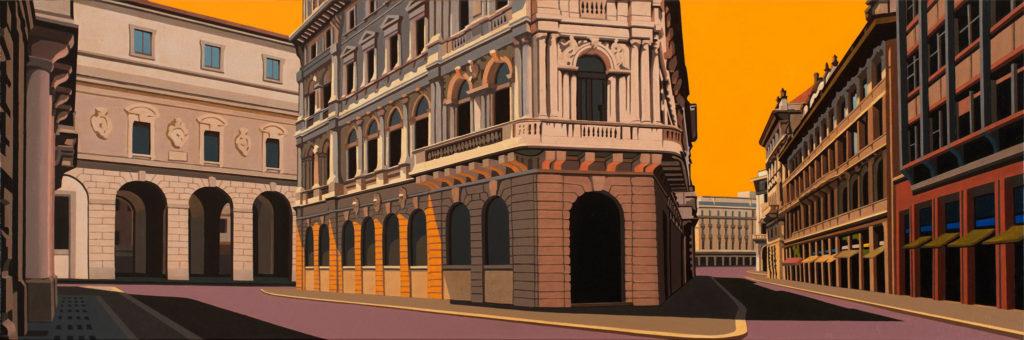 Milano 2015 olio su tela cm 40x120