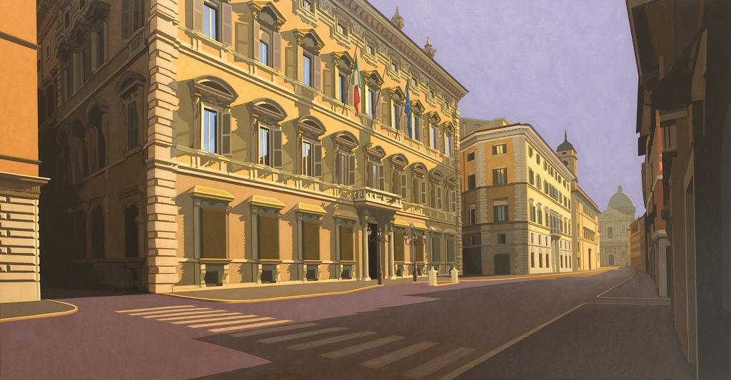 Palazzo Madama 2006 olio su tela cm 130x250