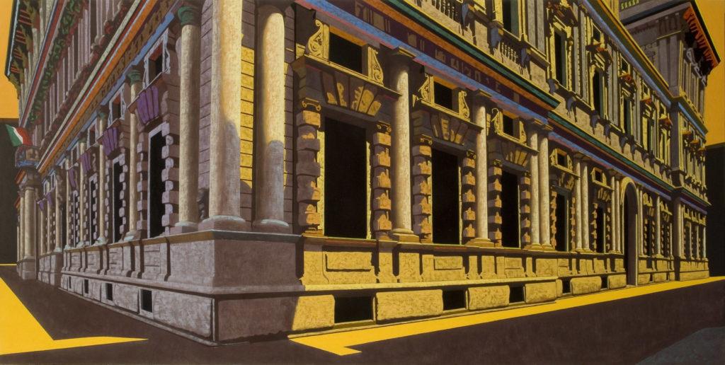 Palazzo Marino 2007 olio su tela cm 100x200