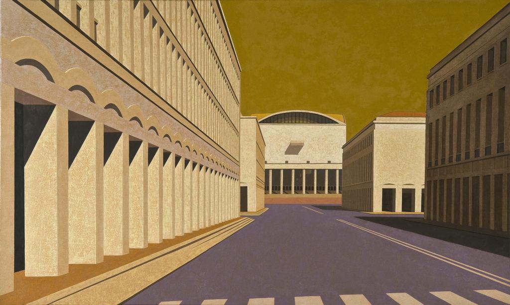 Palazzo dei Congressi 2010 olio su tela cm 60x100