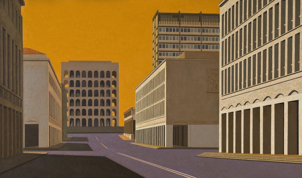 Palazzo della Civiltà 2010 olio su tela cm 60x100