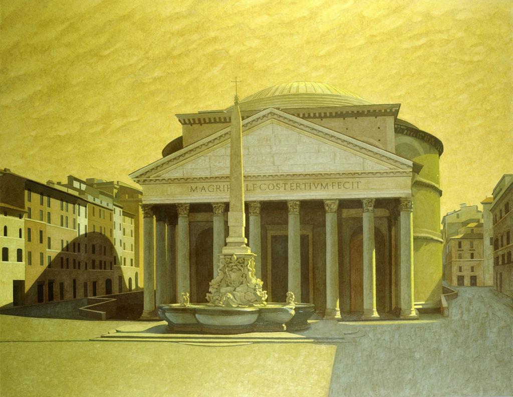 Pantheon 2001 olio su tela cm 140x180