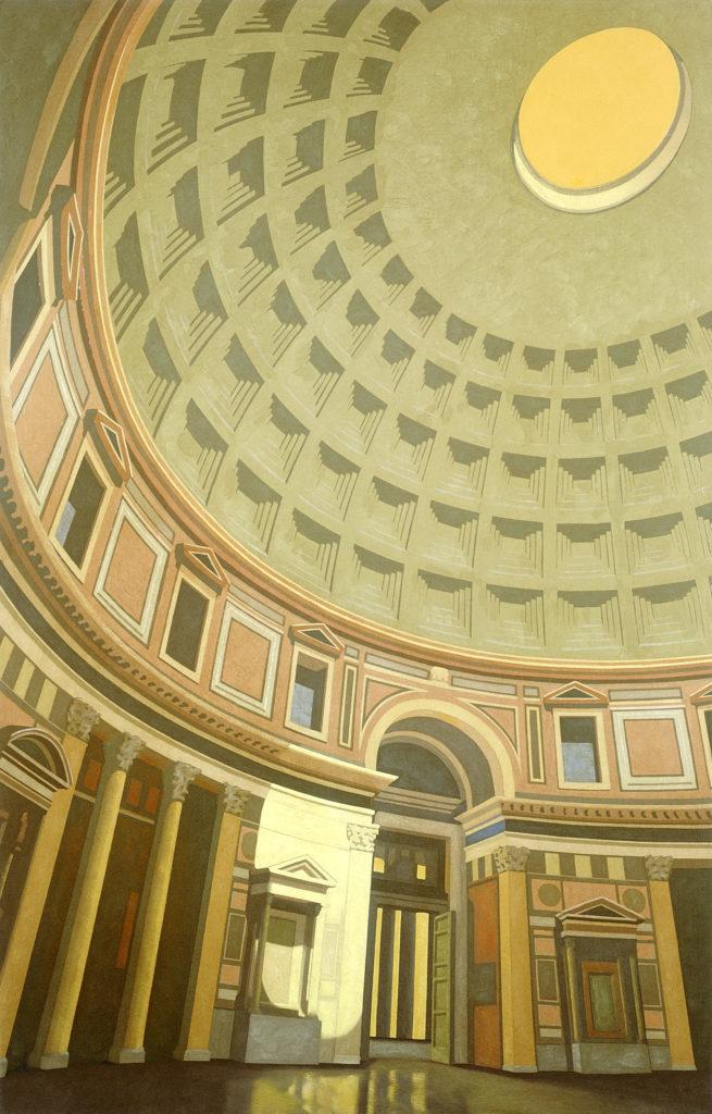 Pantheon 2002 olio su tela cm 140x90