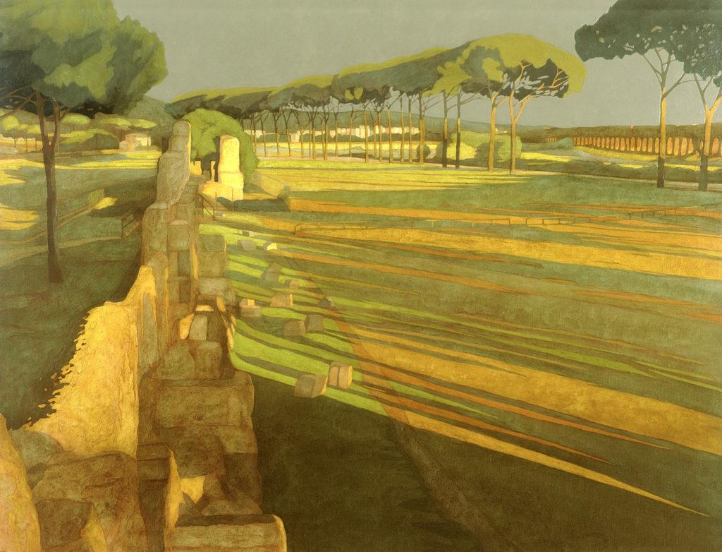 Pineta Appio-Tuscolano 2001 olio su tela cm 140x180