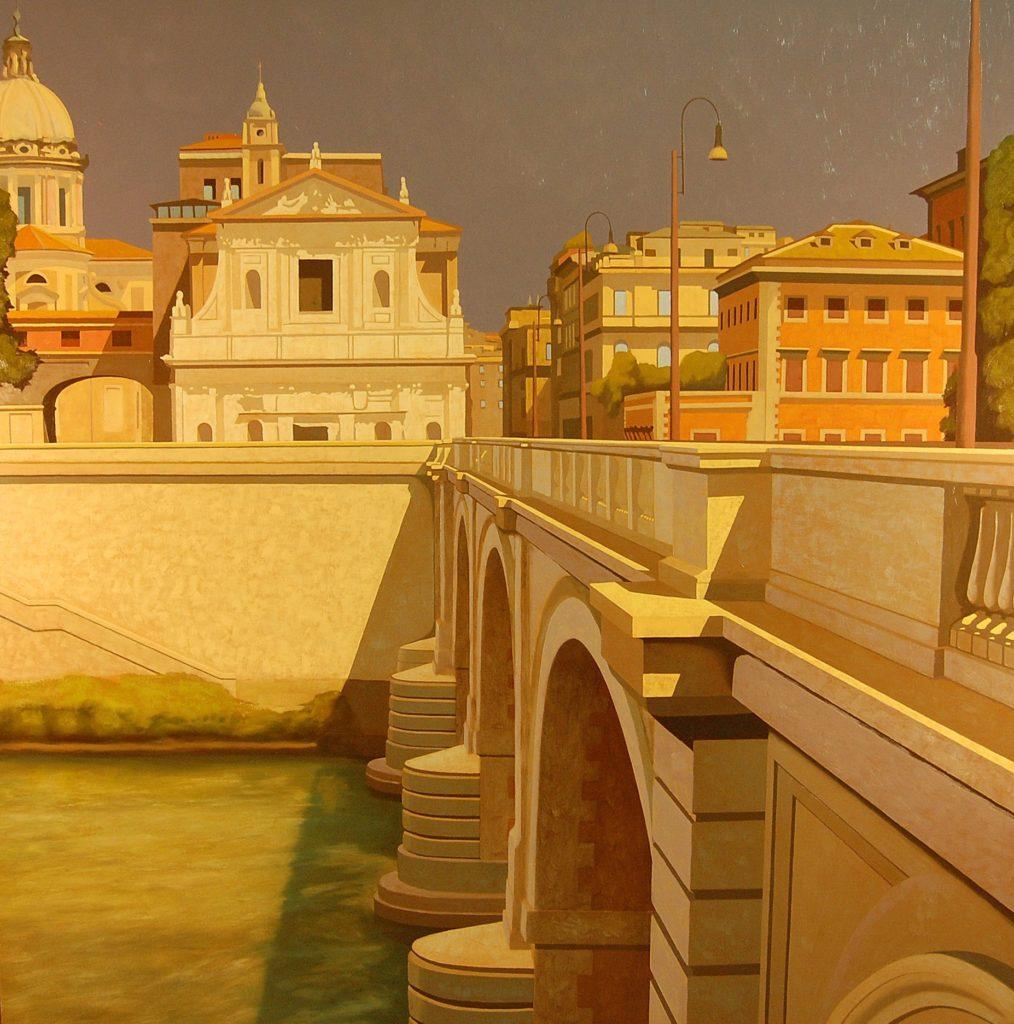 Ponte Cavour 2007 olio su tela cm 150x150