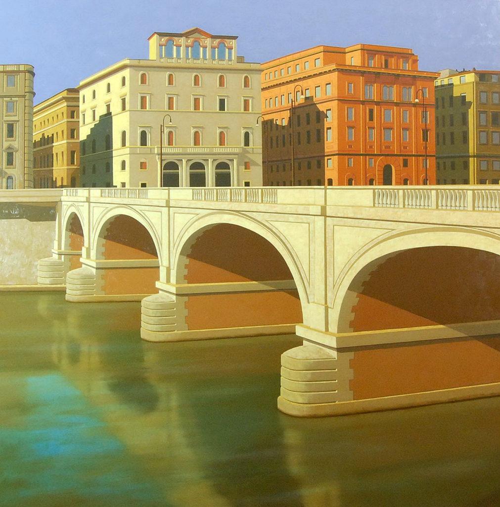 Ponte Cavour 2009 olio su tela cm. 150x150