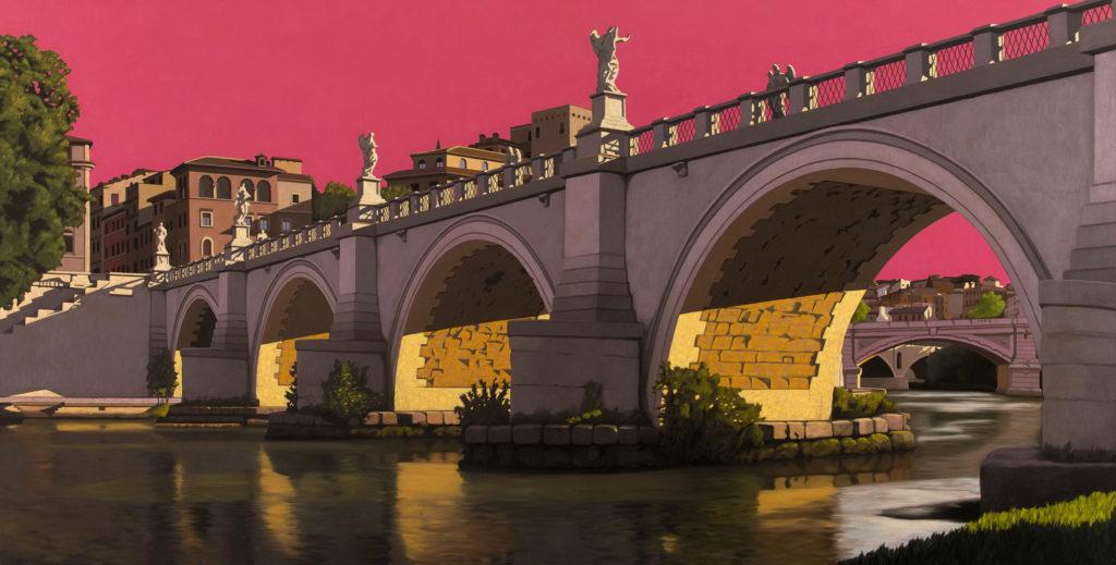 Ponte Elio 2014 olio su tela cm 100x200
