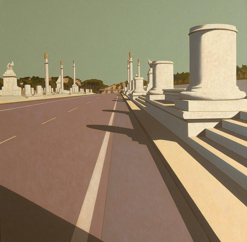 Ponte Flaminio 2009 olio su tela cm 80x80
