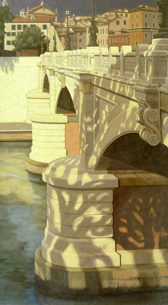 Ponte Mazzini 2002 olio su tela cm 180x100