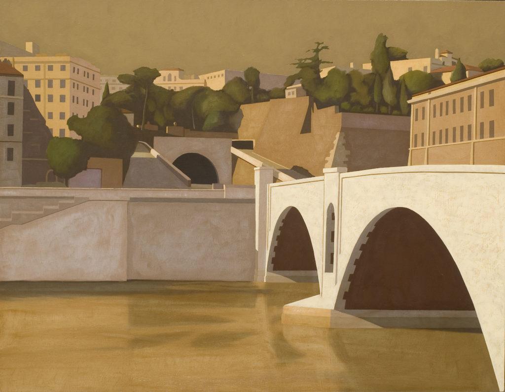 Ponte Principe Amedeo 2006 olio su tela cm 70x90