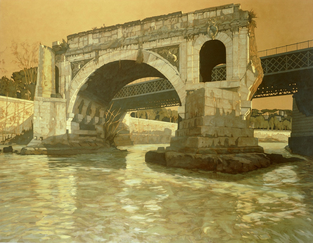 Ponte Rotto 2001 olio su tela cm 140x180