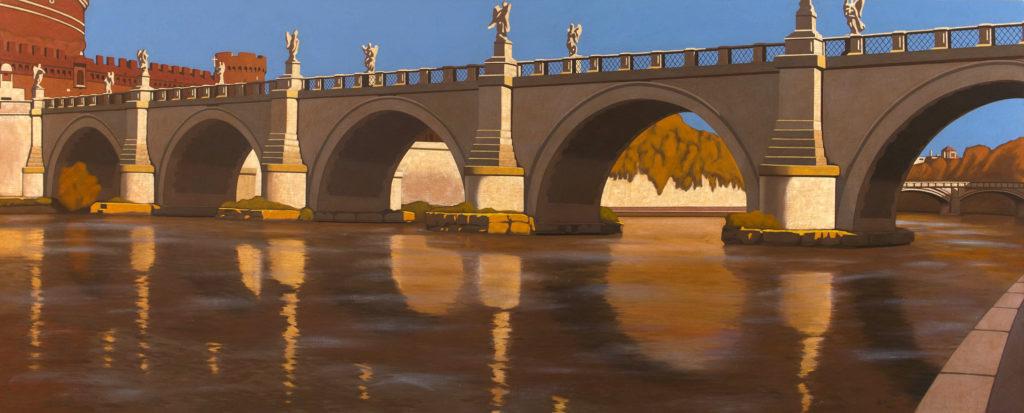 Ponte degli Angeli 2014 olio su tela cm  80x200