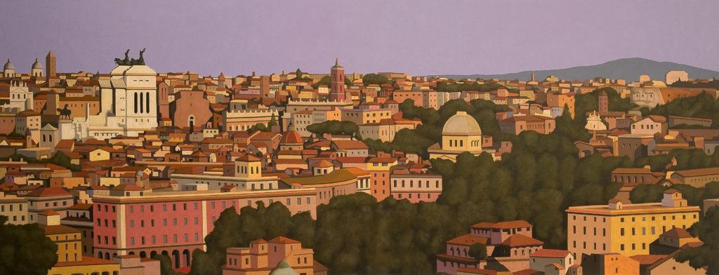 Roma 2009 olio su tela cm 80x220