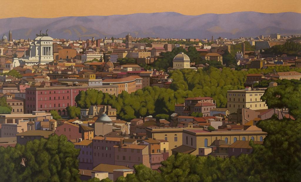Roma 2012 olio su tela cm 150x250