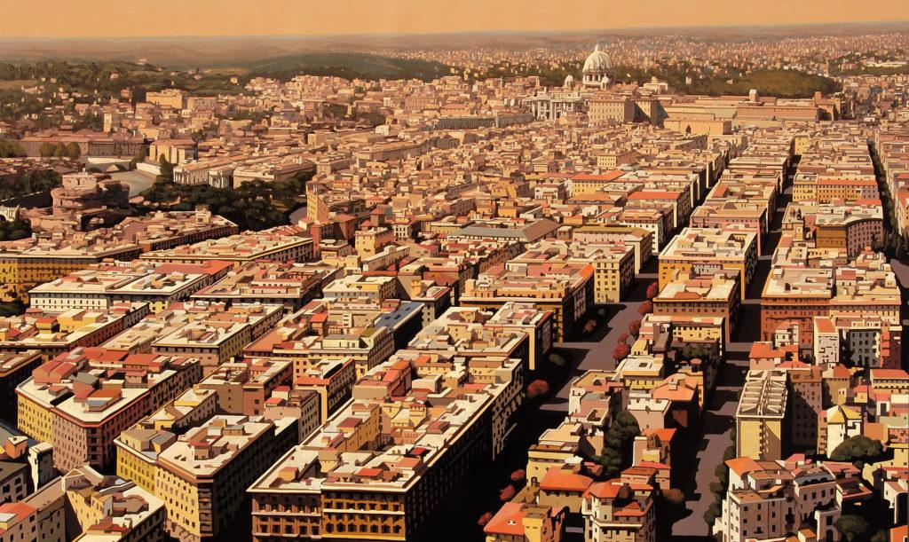 Roma Prati 2015 olio su tela  cm 150x250