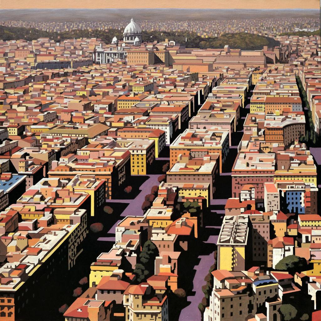 Roma Prati 2016 olio su tela cm 120x120