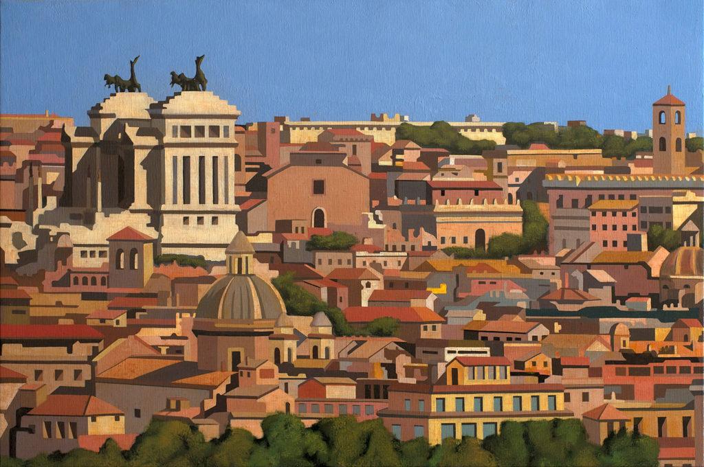 Roma con Vittoriano 2015  olio su tela cm 40x60