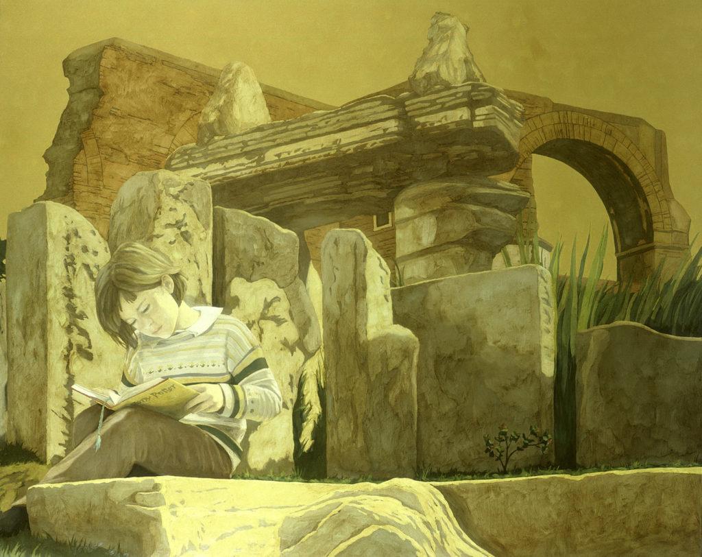 Silvia a Villa Celimontana 2001 olio su tela cm 120x150