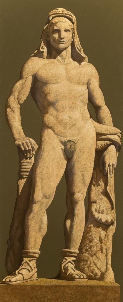 Statua 2009 olio su tela cm 200x80