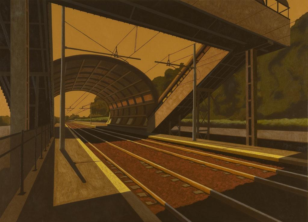 Stazione RAI 2006 olio su tela cm 100x140