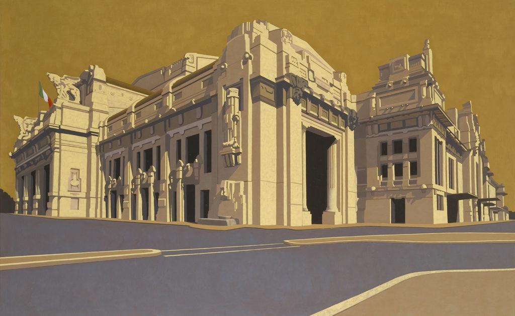 Milano Centrale 2007 olio su tela cm 100x160