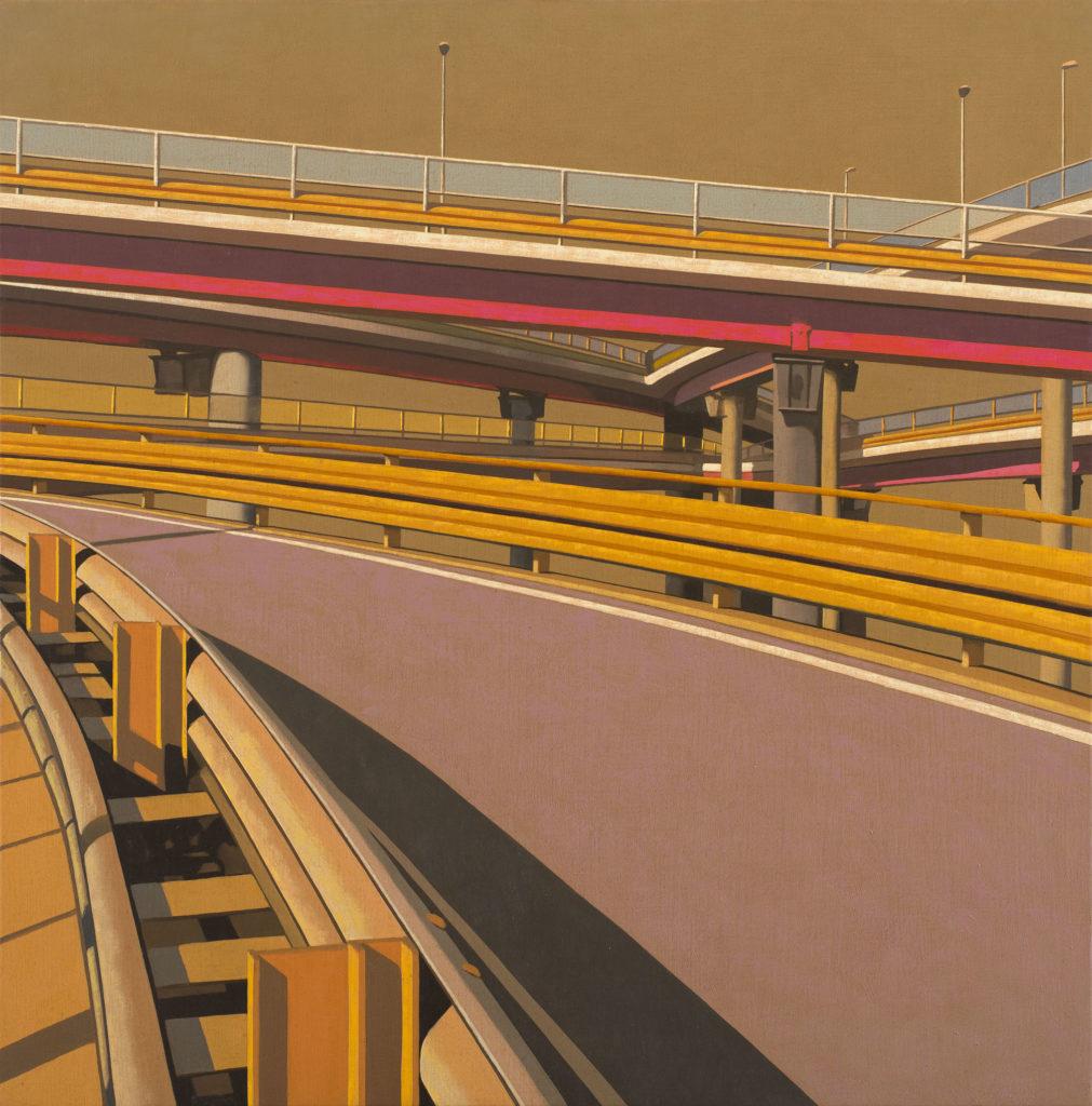 Tangenziale 2012 olio su tela cm 50x50