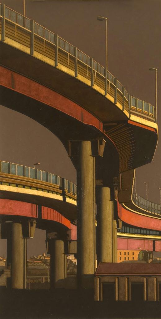 Tangenziale Est 2004 olio su tela cm 200x100