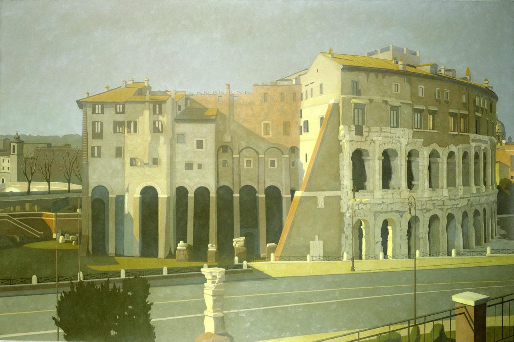 Teatro Marcello 2002 olio su tela cm 120x180