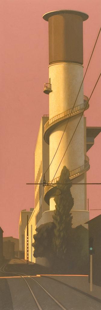 Torre 2005 olio su tela cm 240x80