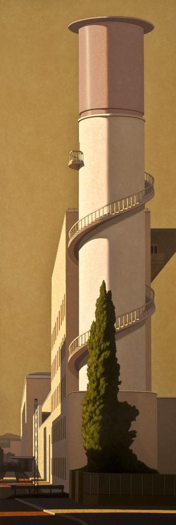 Torre 2010 olio su tela cm 300x100