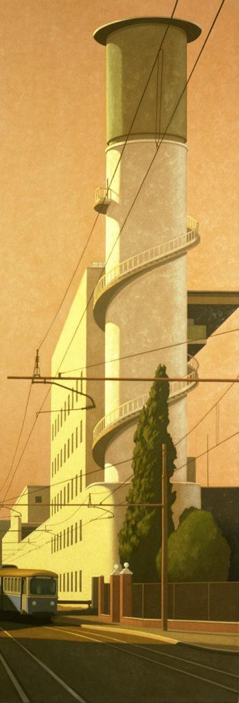 Via Giolitti 2004 olio su tela cm 260x90
